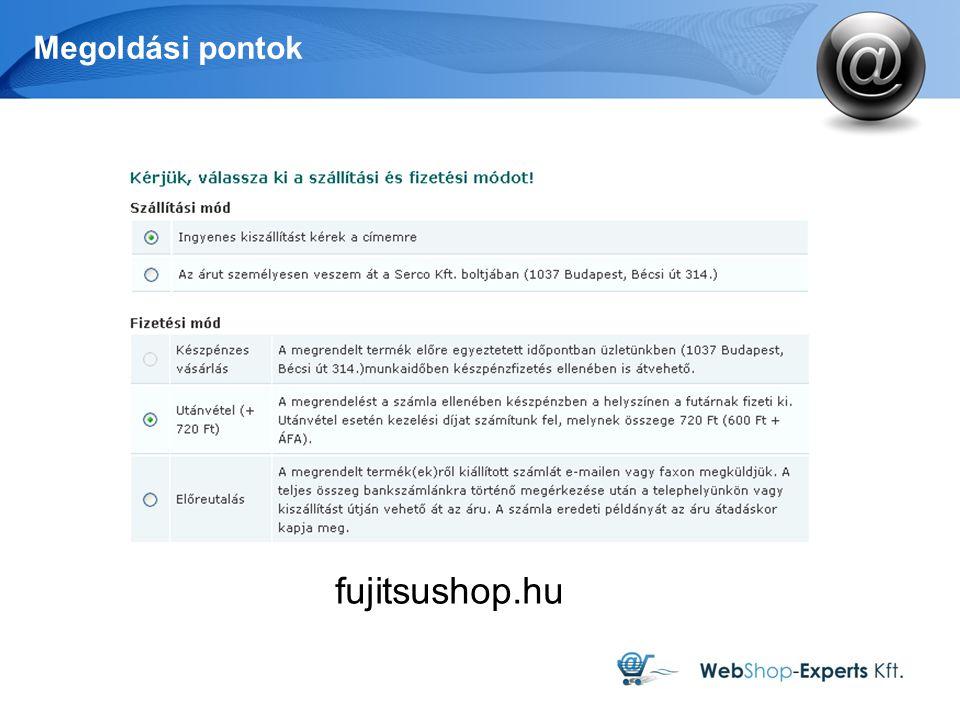 Megoldási pontok fujitsushop.hu