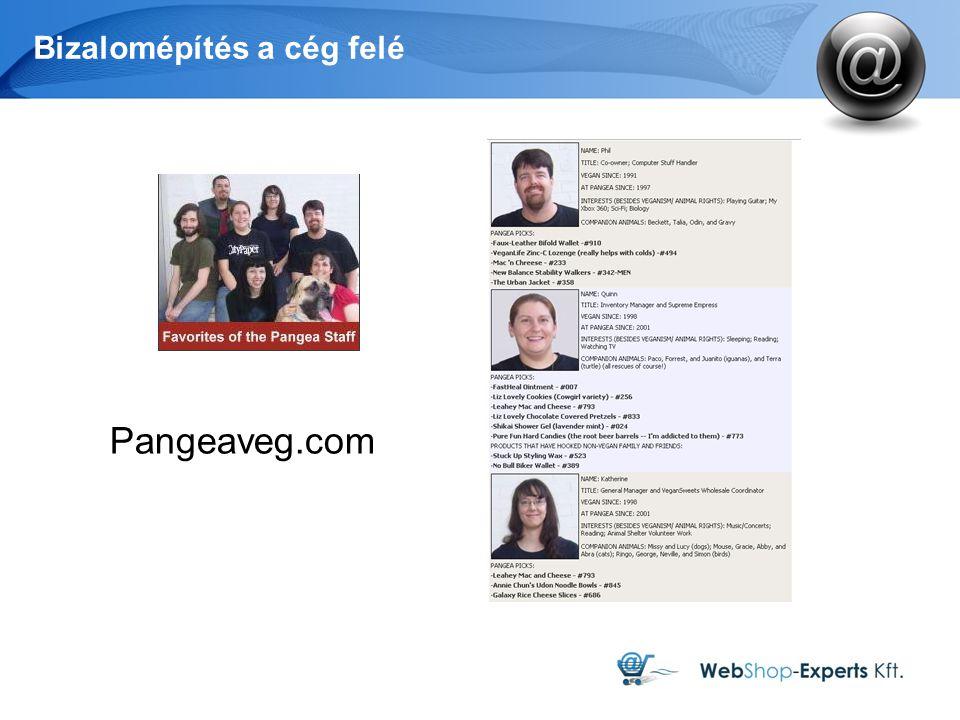 Bizalomépítés a cég felé Pangeaveg.com