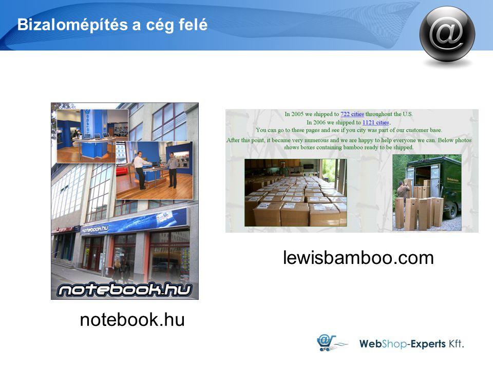 Bizalomépítés a cég felé notebook.hu lewisbamboo.com