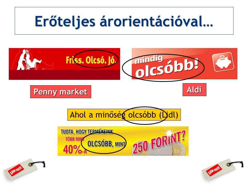 Erőteljes árorientációval… Ahol a minőség olcsóbb (Lidl) Aldi Penny market