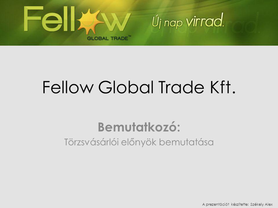• A Fellow Global Trade Kft.2009. október 5-én indította törzsvásárlói közösségének kiépítését.