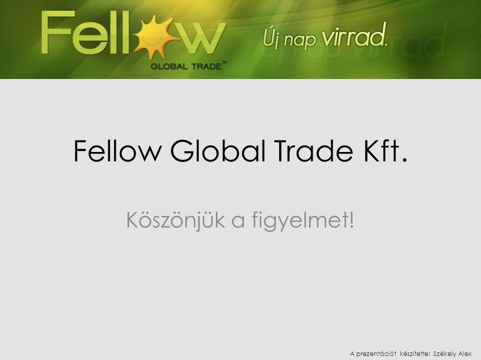 Fellow Global Trade Kft. Köszönjük a figyelmet! A prezentációt készítette: Székely Alex