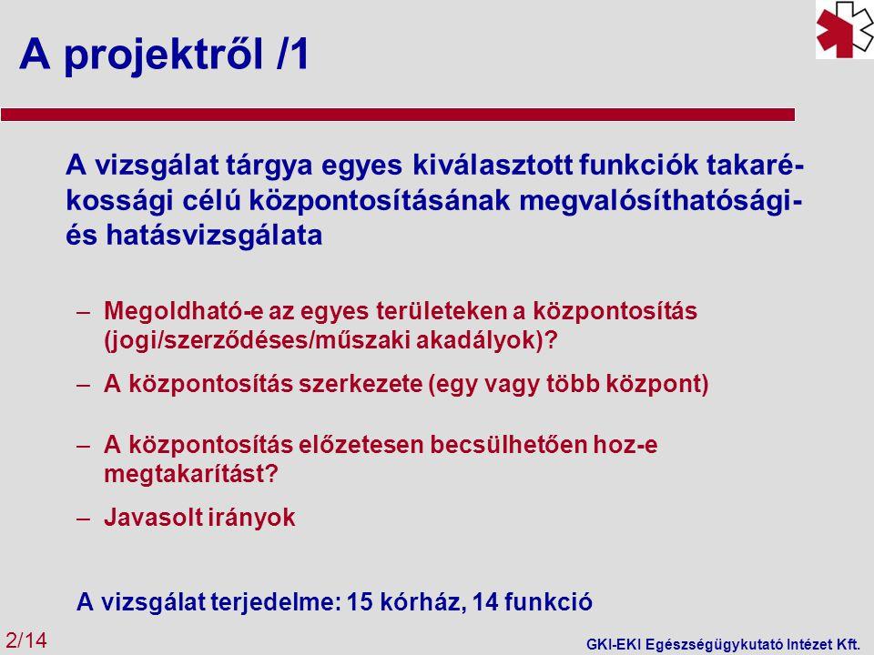 Eredmények - összefoglalás 13/14 GKI-EKI Egészségügykutató Intézet Kft.