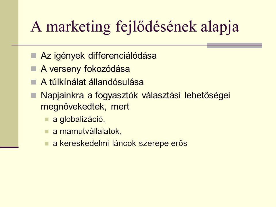 A marketing története  Ipari forradalom – gyáripar – tömegtermelés  Az értékesítés szervezése a XX.