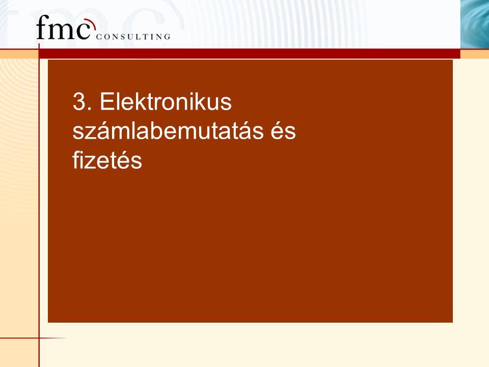 3. Elektronikus számlabemutatás és fizetés