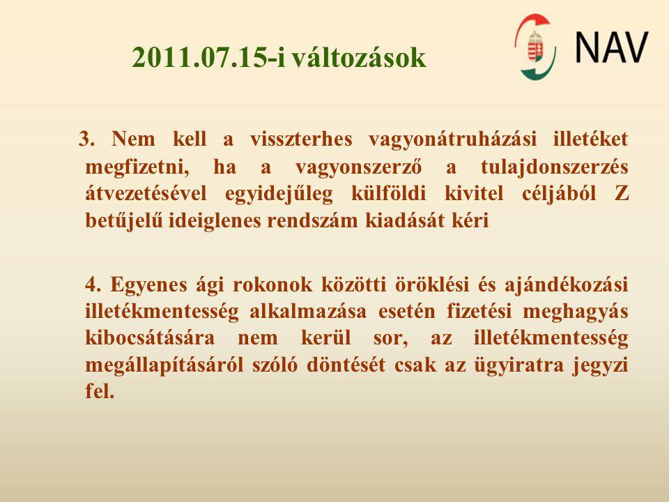 Otthonvédelem •Az otthonvédelemmel összefüggő egyes törvények módosításáról szóló 2011.