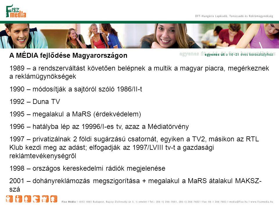 A MÉDIAPIAC jelenlegi helyzete - TELEVÍZIÓ A tömegmédiumok közül a televízió a legerősebb, leginkább használt médium.