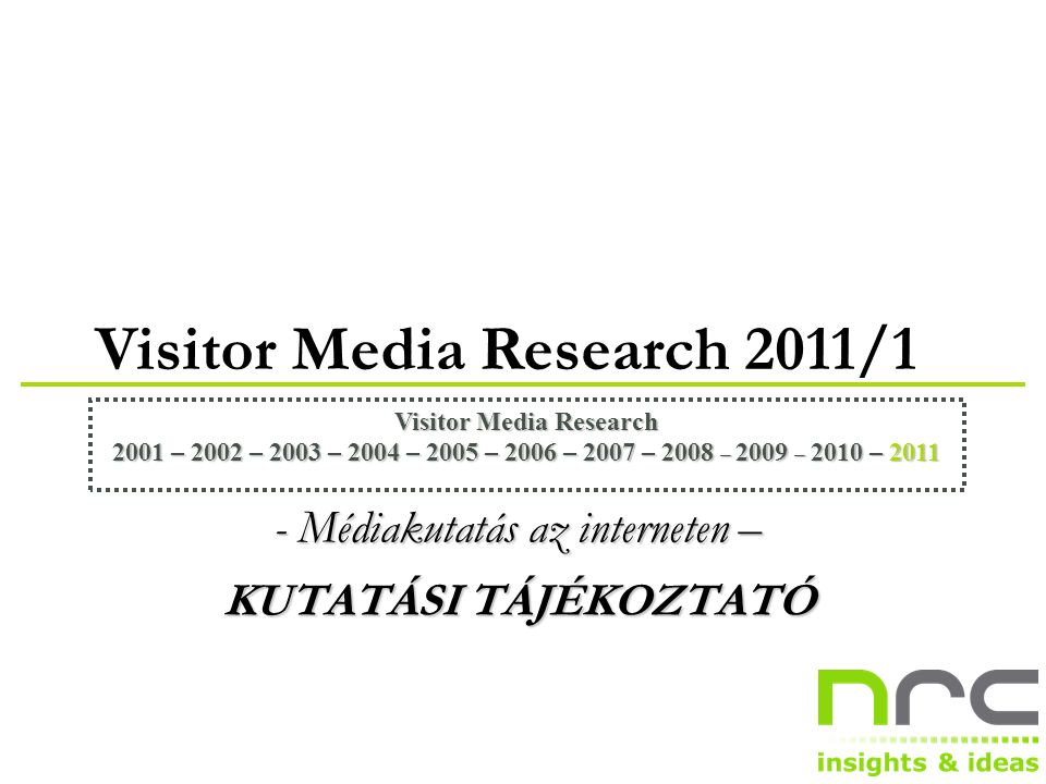 NRC VMR2011/1 22 privatbankar.hu ( n = 672 )privatbankar.hu ( n = 672 )