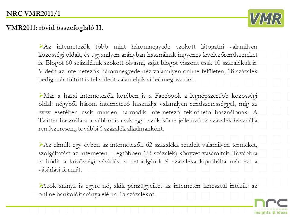 VMR2011/1 alapadatok privatbankar.hu