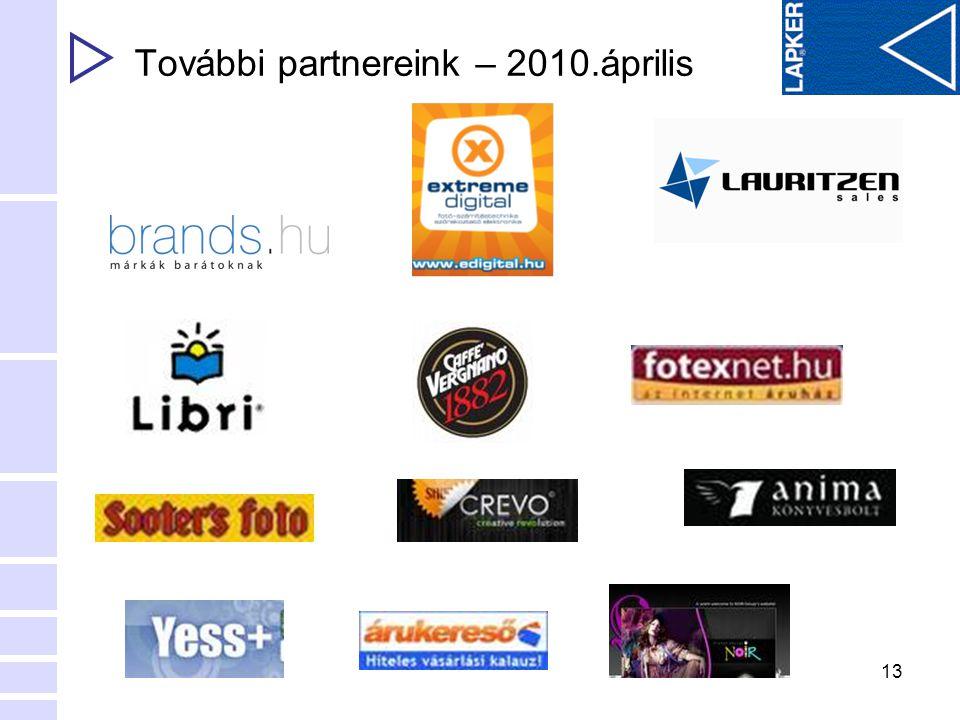 13 További partnereink – 2010.április