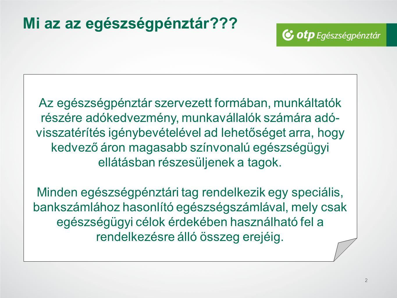 2 Mi az az egészségpénztár??? Az egészségpénztár szervezett formában, munkáltatók részére adókedvezmény, munkavállalók számára adó- visszatérítés igén