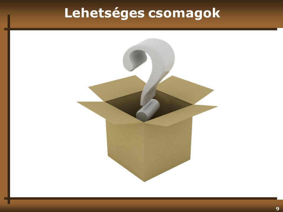 9 Lehetséges csomagok