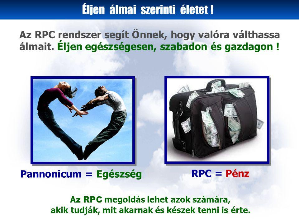 Az RPC-4 vásárlói rendszer bemutatása Petra Attila Szofi Feri Péter Laci Gréta Anna Réka Ági Olga Zita Edit Kati Ön 18.000.-Ft + 2 új pozíció az RPC- 4 Vásárlói Klubban illetve,az RPC-Globális Klubban Ön Szofi Péter Amikor Ön 4 doboz Pannonicum termék megvásárlásával csatlakozik az RPC-4 Vásárlói Klubhoz és itt Önnel együtt 15 vásárló van, eléri a Zafír üzleti szintet.