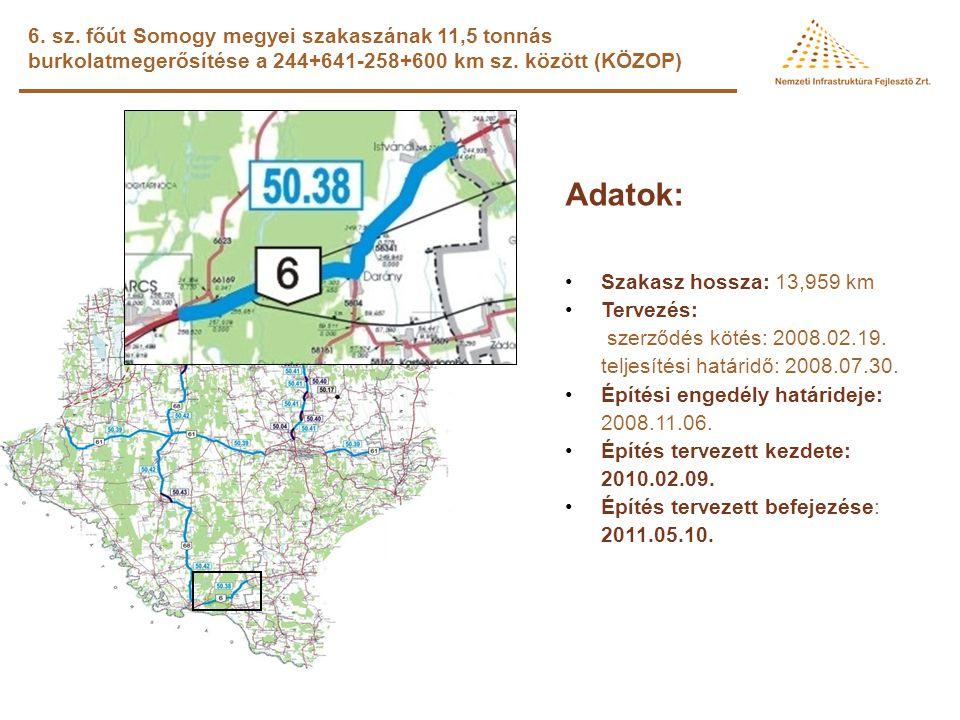 68. sz. főút Marcali elkerülés (KÖZOP ) Adatok: •Hossz: 8,1 km •Tervezés: megbízói döntéstől függ •Építési engedély: megbízói döntéstől függ •Építés k