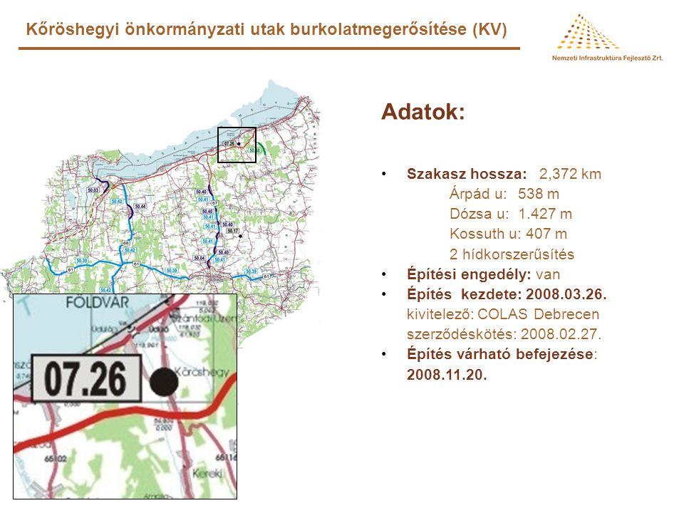 Somogy megyei Hídfelújítások 76 út 4+839 km sz. 76 út 4+839 km sz. Balatonszentgyörgy vasút feletti híd 610 út 126+175 km sz. 610 út 126+175 km sz. Ka