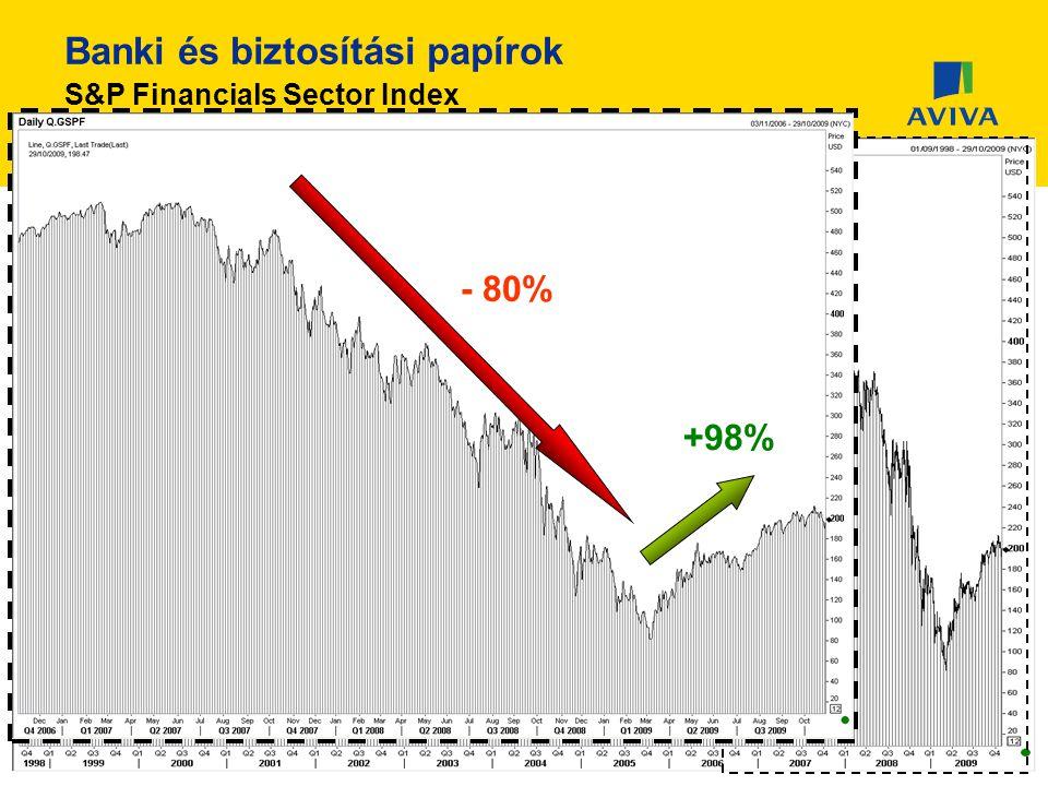 Banki és biztosítási papírok S&P Financials Sector Index - 80% +98%