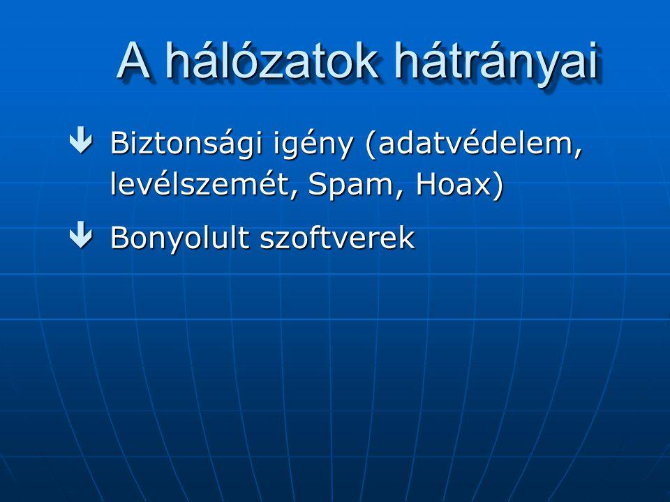 Domain nevek é Az országra utaló ISO angol országnév 2 kód szerint pl.: hu, at, de, stb.