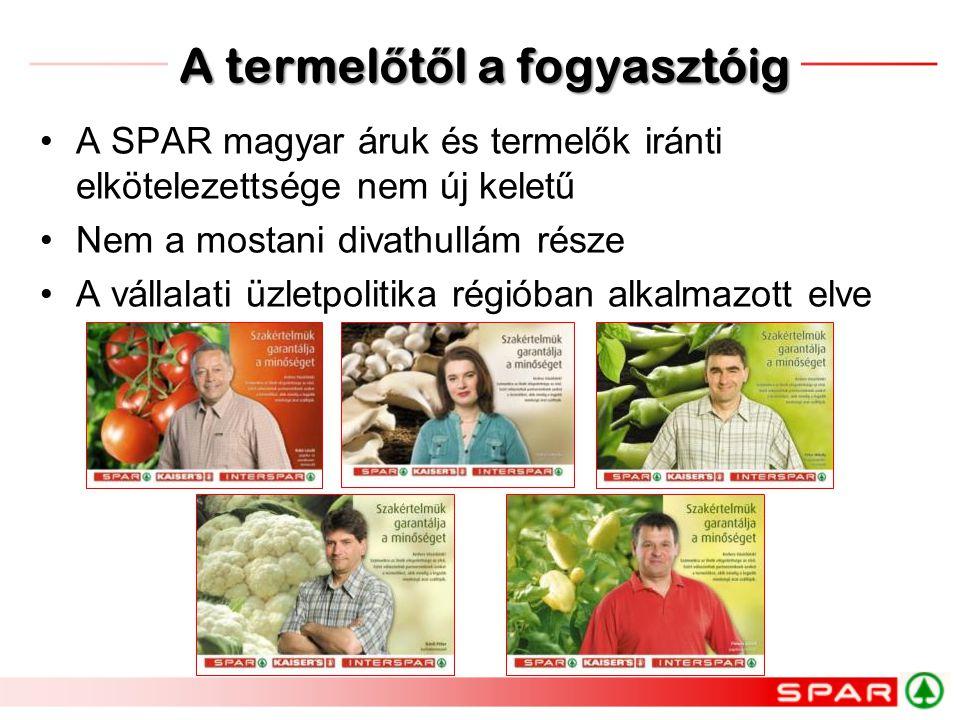 •A SPAR magyar áruk és termelők iránti elkötelezettsége nem új keletű •Nem a mostani divathullám része •A vállalati üzletpolitika régióban alkalmazott