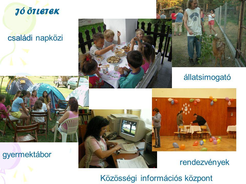 családi családi napközi állatsimogató gyermektábor Közösségi információs központ JÓ ÖTLETEK rendezvények