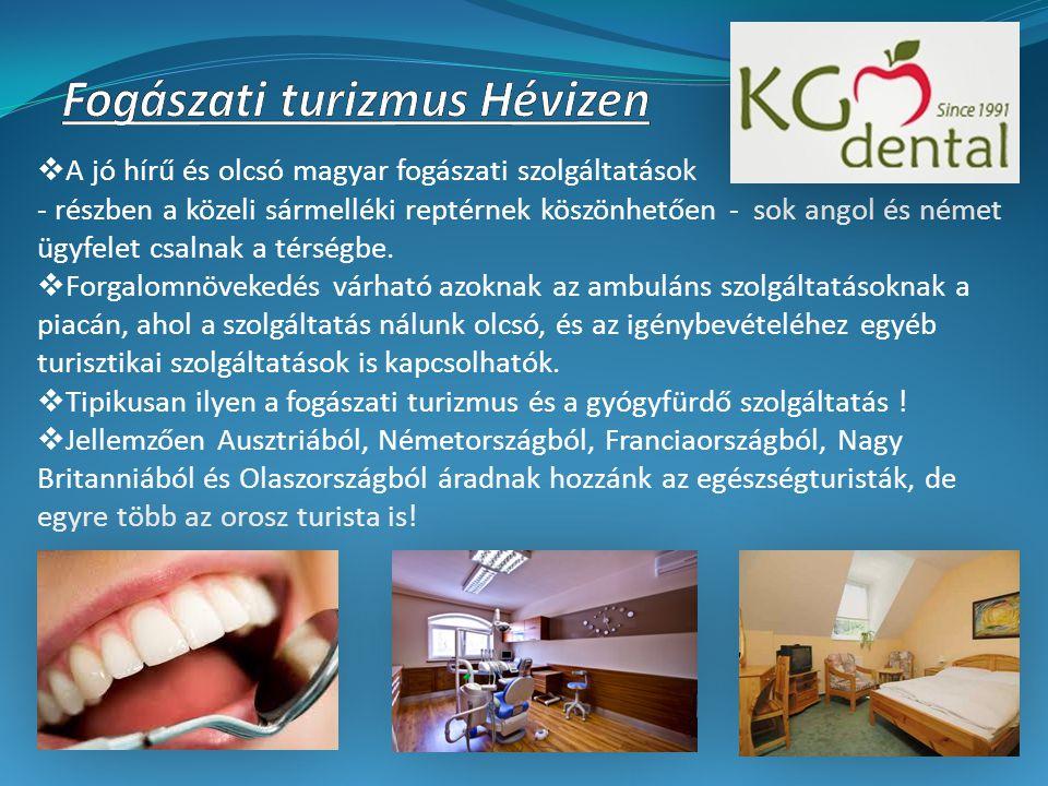  A jó hírű és olcsó magyar fogászati szolgáltatások - részben a közeli sármelléki reptérnek köszönhetően - sok angol és német ügyfelet csalnak a térségbe.