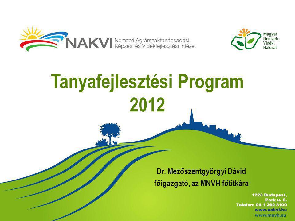 Tanyafejlesztési Program 2012 Dr. Mezőszentgyörgyi Dávid főigazgató, az MNVH főtitkára
