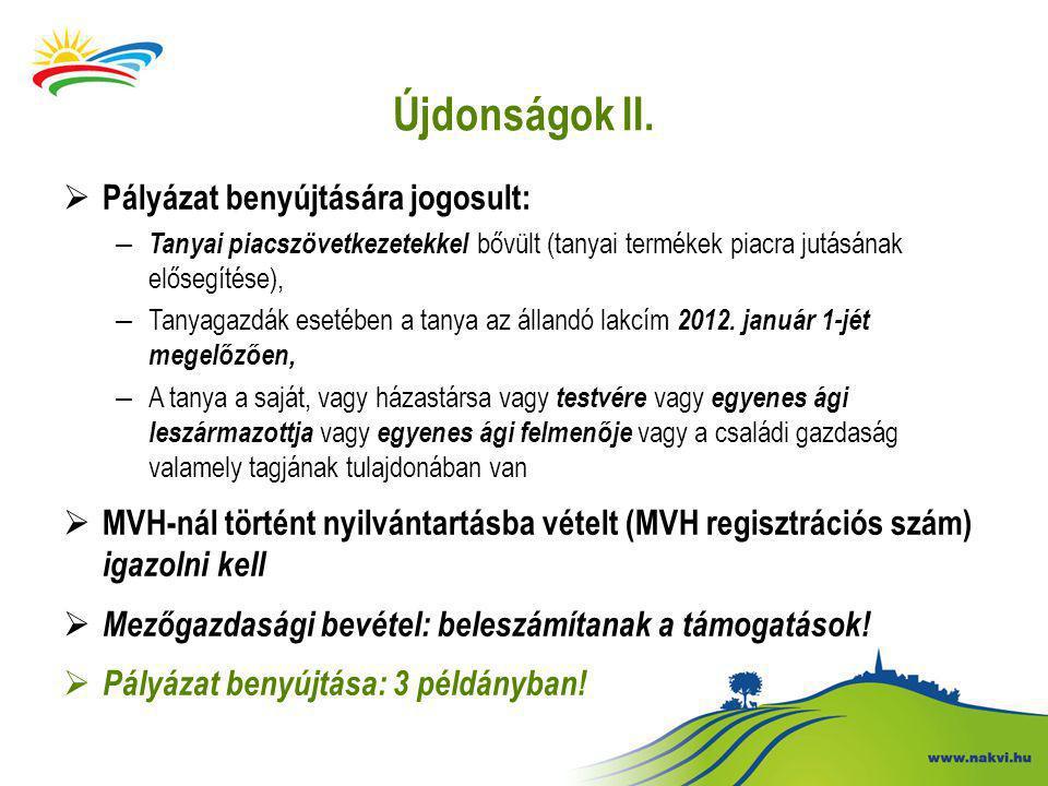 Újdonságok II.