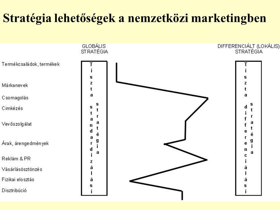 Stratégia lehetőségek a nemzetközi marketingben