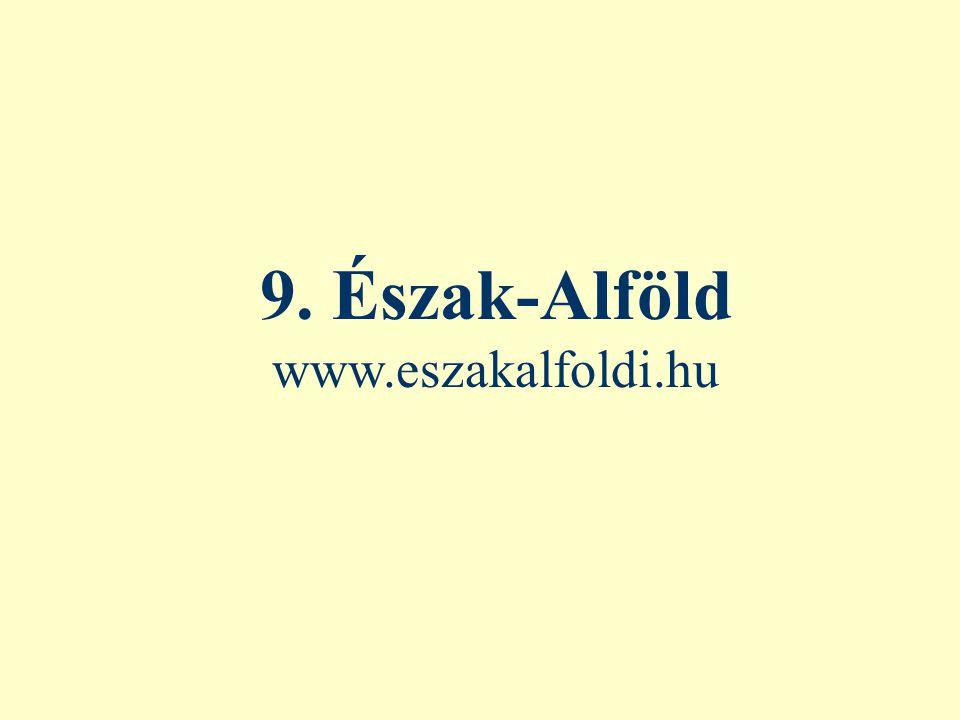 9. Észak-Alföld www.eszakalfoldi.hu