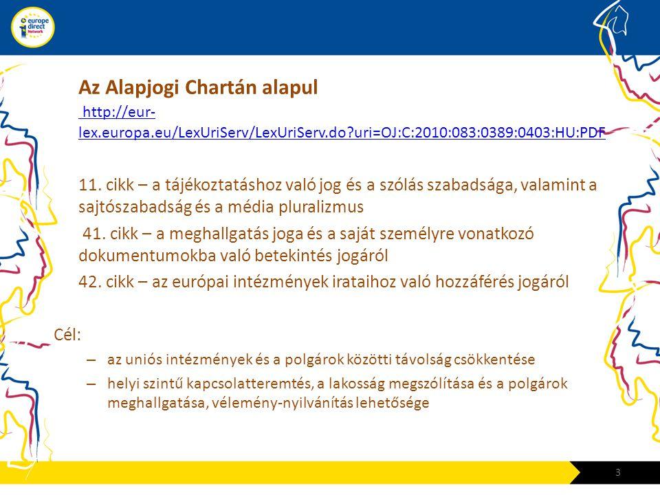 Az Alapjogi Chartán alapul http://eur- lex.europa.eu/LexUriServ/LexUriServ.do?uri=OJ:C:2010:083:0389:0403:HU:PDF http://eur- lex.europa.eu/LexUriServ/