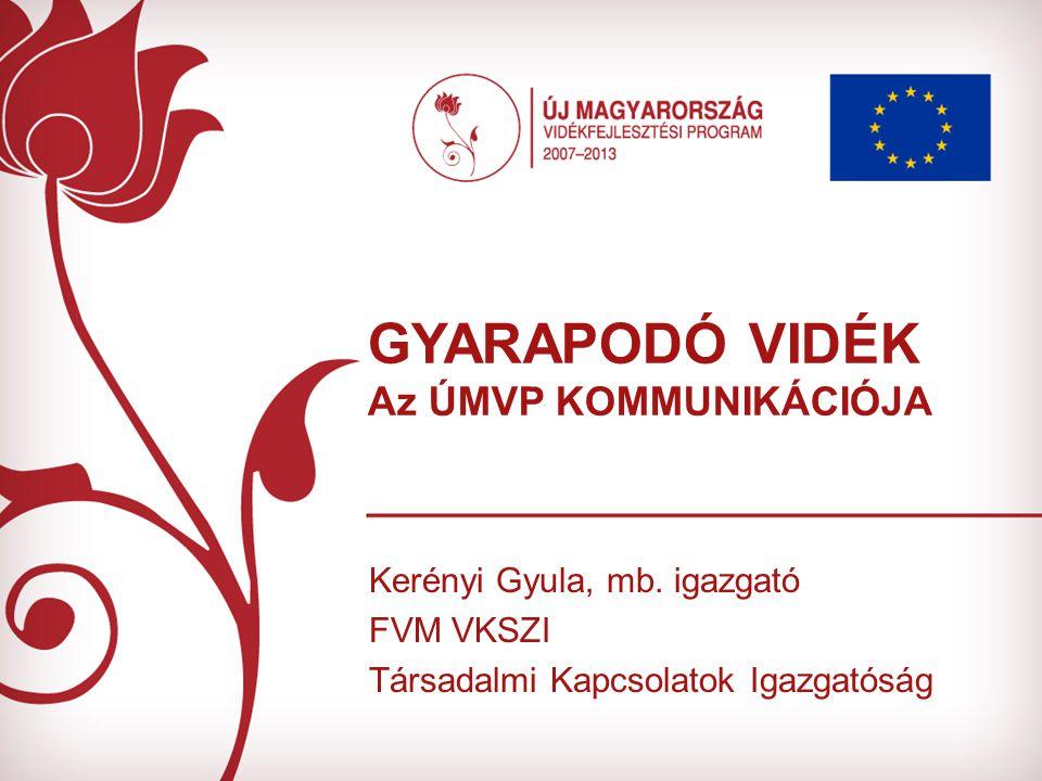 GYARAPODÓ VIDÉK Az ÚMVP KOMMUNIKÁCIÓJA Kerényi Gyula, mb.