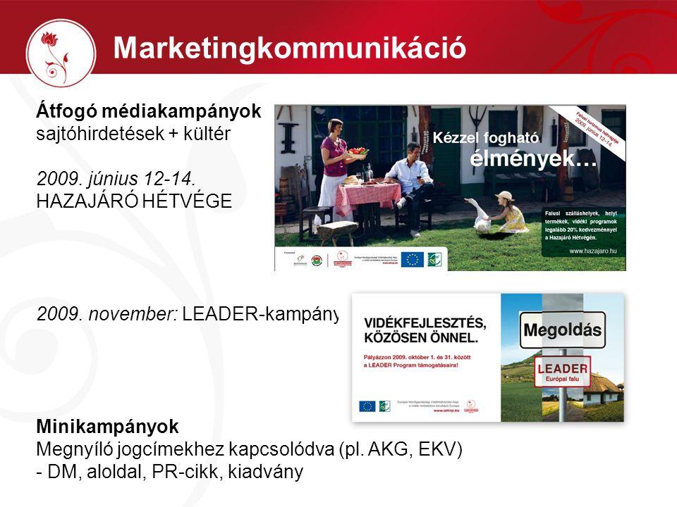 Marketingkommunikáció Átfogó médiakampányok sajtóhirdetések + kültér 2009.