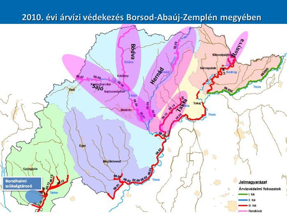A védekezés számokban  Borsod-Abaúj-Zemplén megye 358 települése közül 256 -ot kényszerített védekezésre árvíz vagy helyi vízkár.