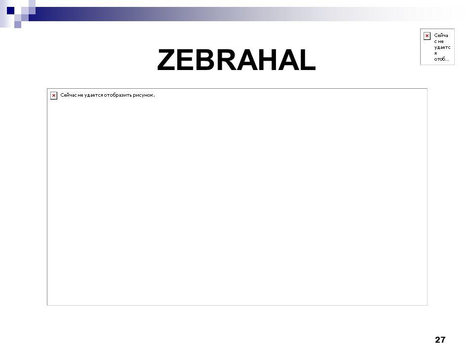 27 ZEBRAHAL