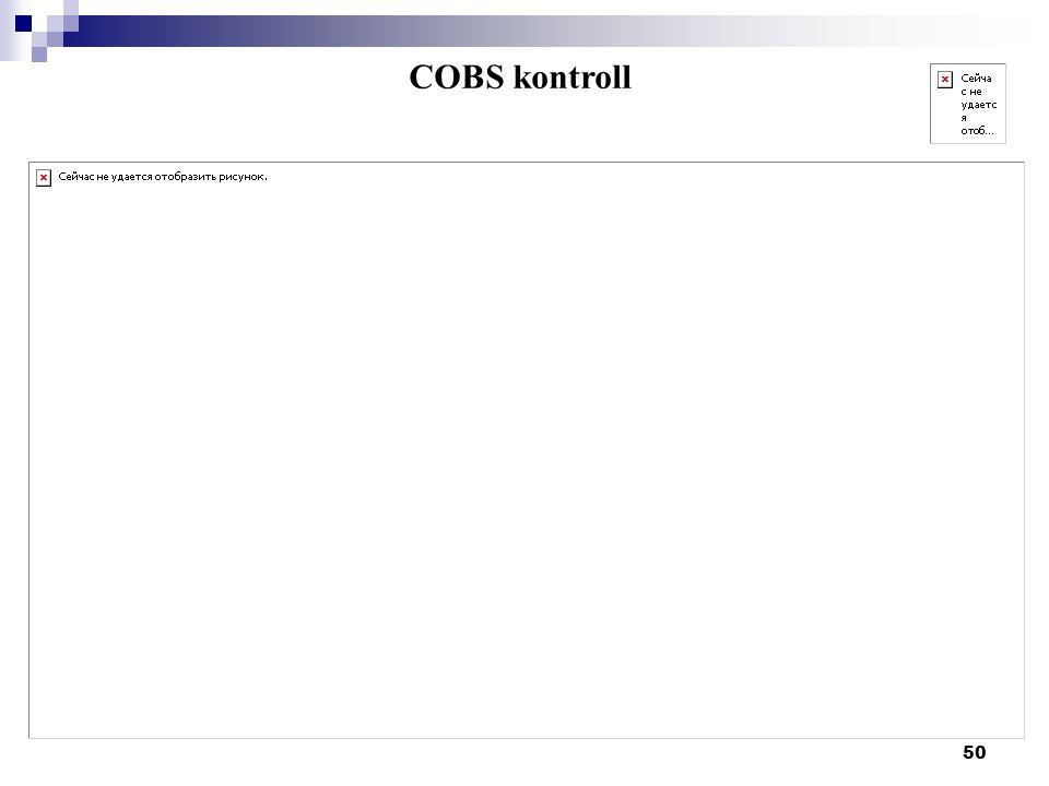 50 COBS kontroll