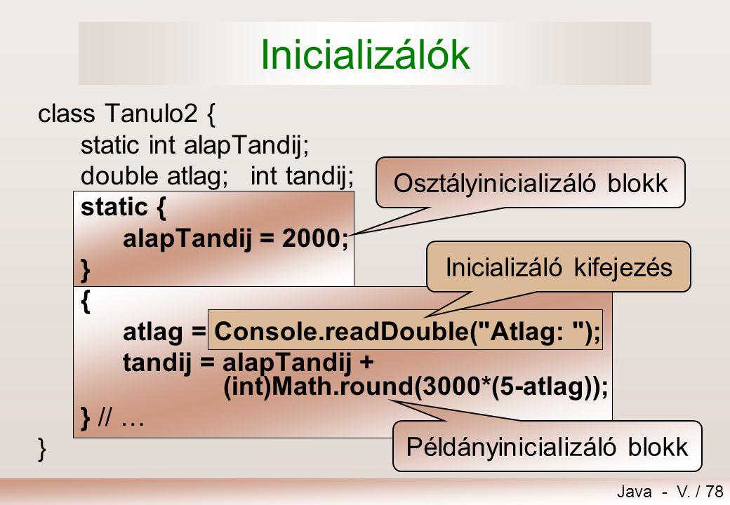 Java - V.