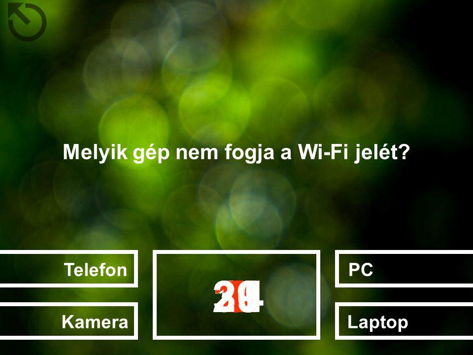 Melyik gép nem fogja a Wi-Fi jelét? LaptopPCTelefonKamera 282726252022232412131415161718192111106789123453029