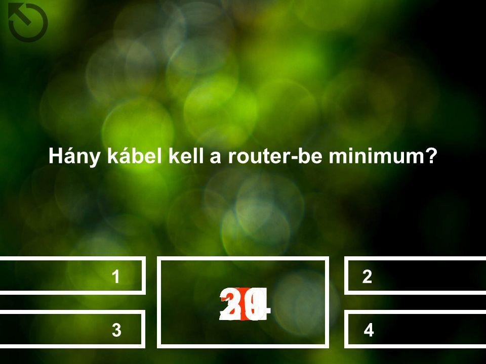 Hány kábel kell a router-be minimum? 4213 282726252022232412131415161718192111106789123453029