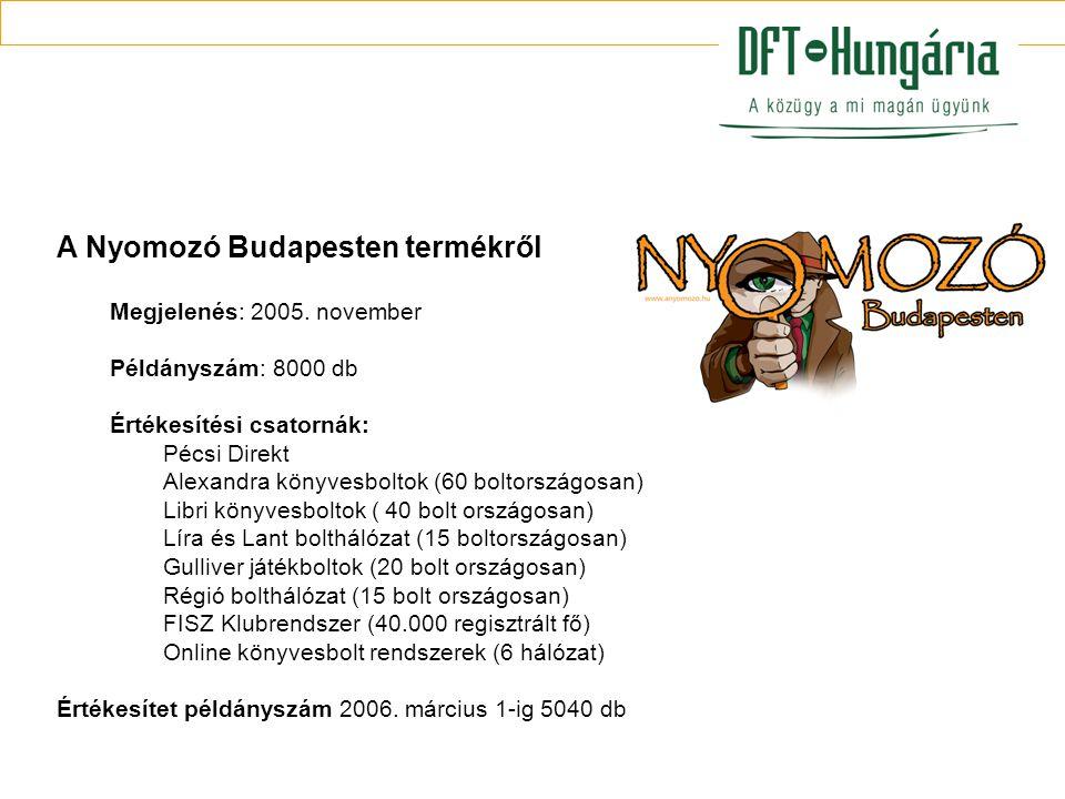 A Nyomozó Budapesten termékről Megjelenés: 2005.