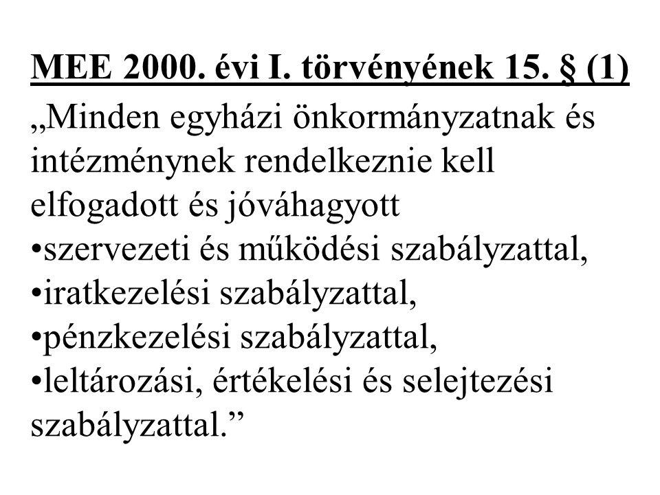 MEE 2000.évi I. törvényének 15.