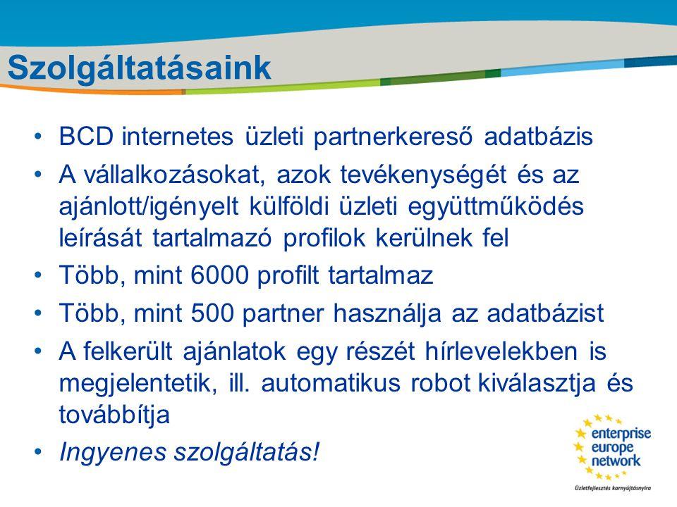 Title of the presentation | Date |‹#› Szolgáltatásaink I.