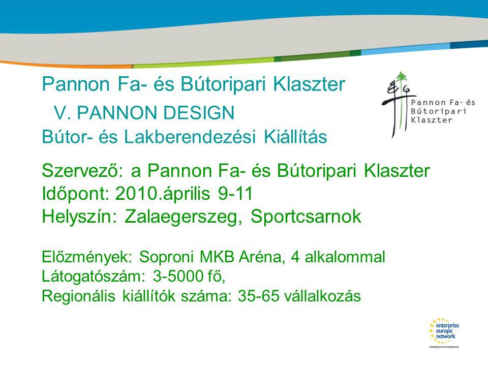 Title of the presentation | Date |‹#› Pannon Fa- és Bútoripari Klaszter Regionális bútor-termékcsalád kifejlesztése INNOREG pályázat 2006-2007
