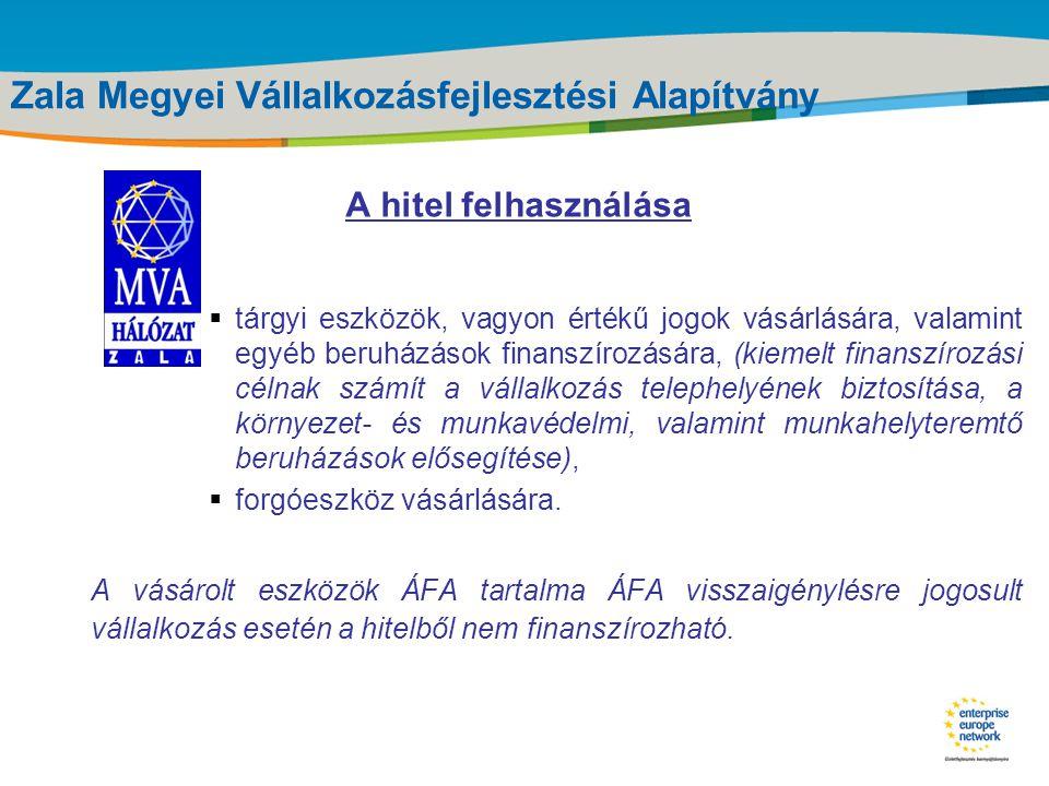 Title of the presentation | Date |‹#› Zala Megyei Vállalkozásfejlesztési Alapítvány Jogosult személyek - nyereség orientált vállalkozás - egyéni vállalkozó; - gazdasági társaság; - gazdasági szövetkezet; Mikrovállalkozások (2004.