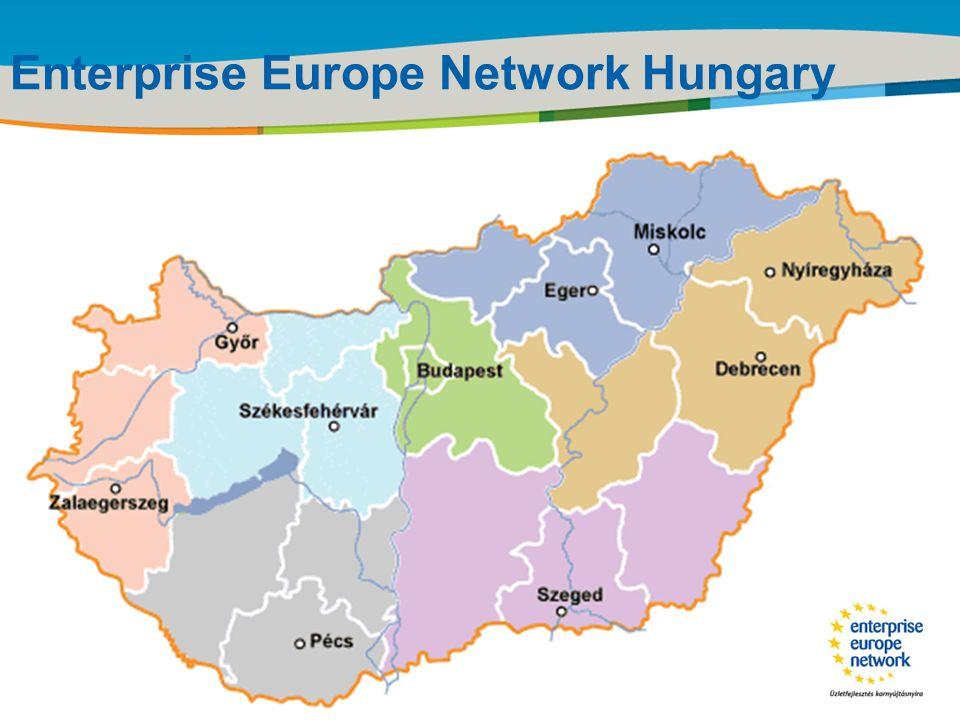 Title of the presentation | Date |‹#› Enterprise Europe Network •Az Európai Bizottság Vállalkozási és Ipari Főigazgatósága egyetlen vállalkozásfejlesztéssel foglalkozó hálózata •Egyedülálló földrajzi lefedettség és tevékenységi kör •45 tagállam, tagjelölt országok, EFTA országok területén •Több mint 500 szervezet közreműködésével •4000 szakember tapasztalatával •Magyarországon a hálózat, országos konzorcium keretében működik az ITD Hungary Zrt.