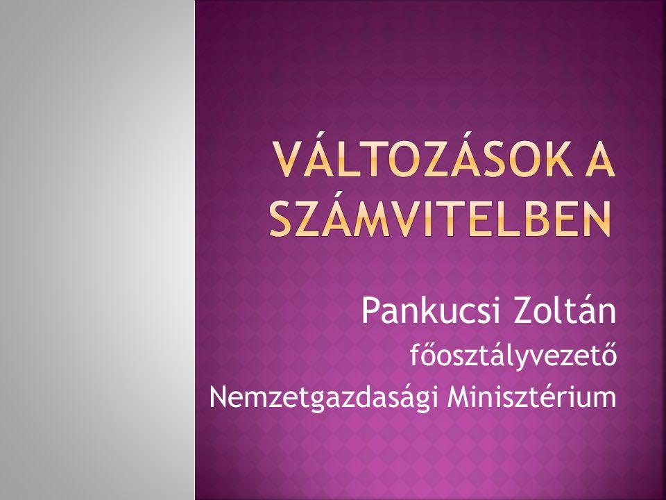 Pankucsi Zoltán főosztályvezető Nemzetgazdasági Minisztérium
