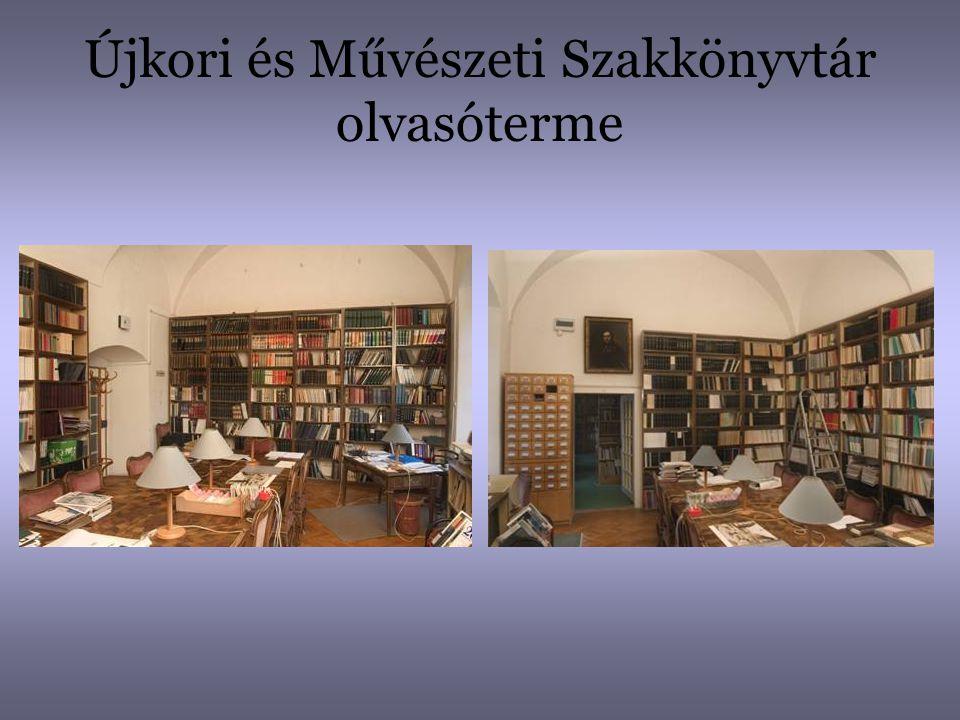 Újkori és Művészeti Szakkönyvtár olvasóterme