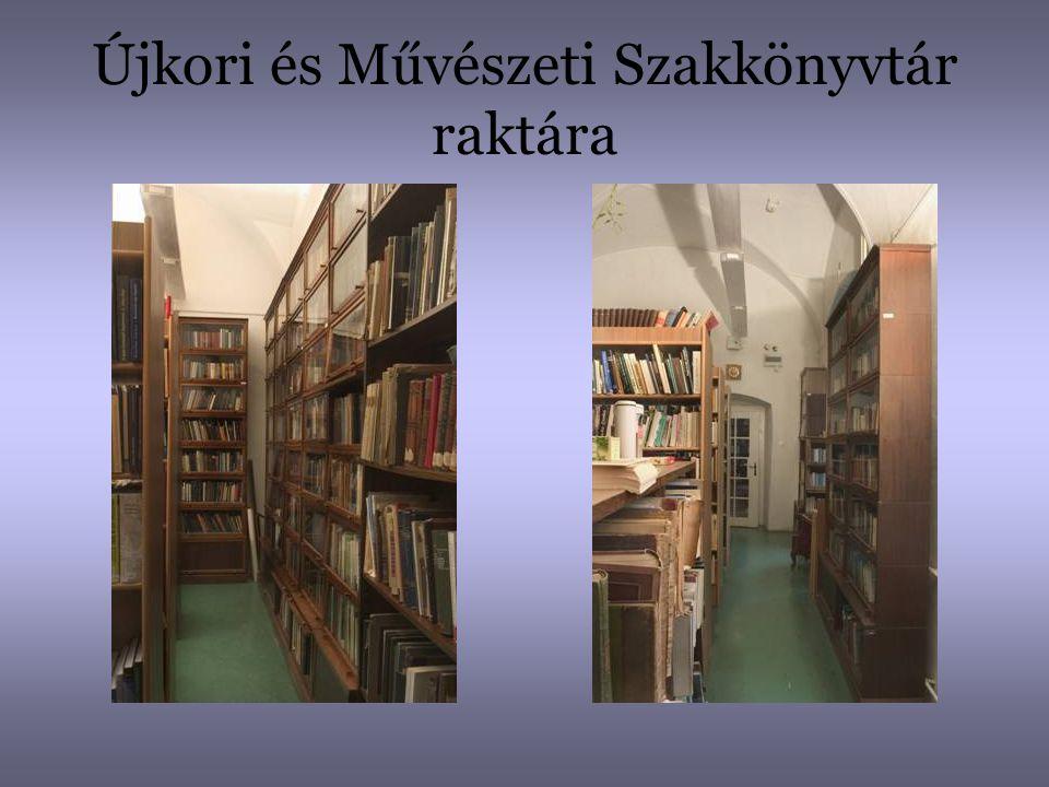 Újkori és Művészeti Szakkönyvtár raktára