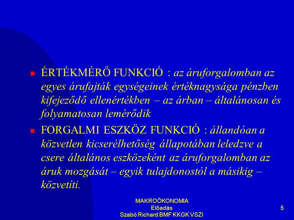 MAKROÖKONOMIA Előadás Szabó Richard BMF KKGK VSZI 36