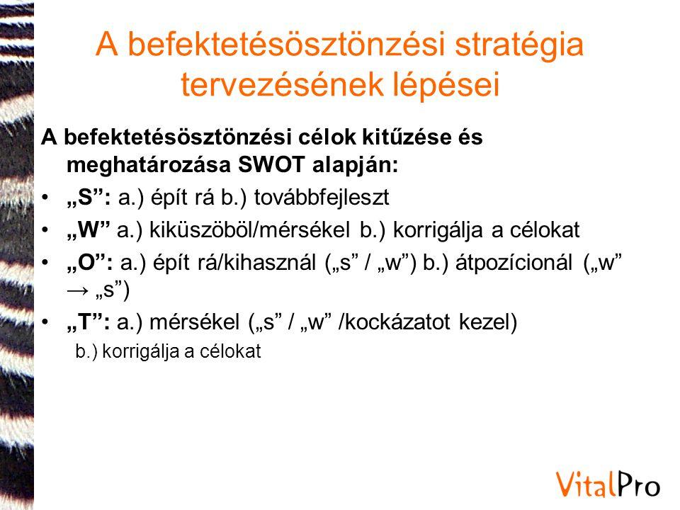 """A befektetésösztönzési stratégia tervezésének lépései A befektetésösztönzési célok kitűzése és meghatározása SWOT alapján: •""""S"""": a.) épít rá b.) továb"""