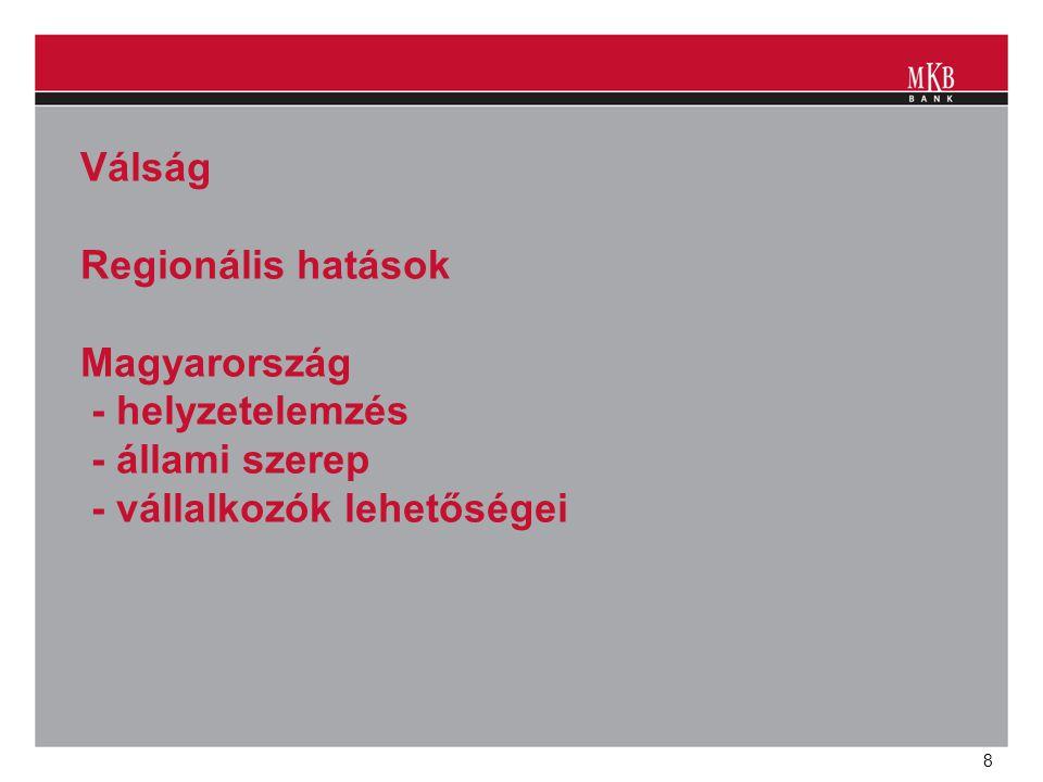 8 Válság Regionális hatások Magyarország - helyzetelemzés - állami szerep - vállalkozók lehetőségei