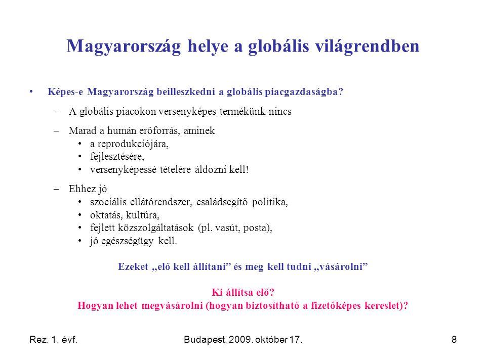 Rez. 1. évf.Budapest, 2009. október 17.19 A gyógyszerpolitikáról